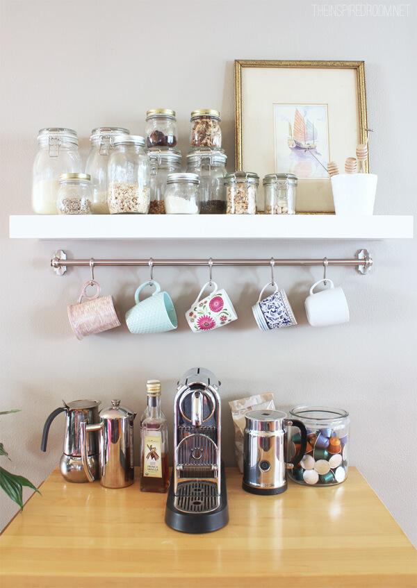 Brushed-nickel Mug Hanger