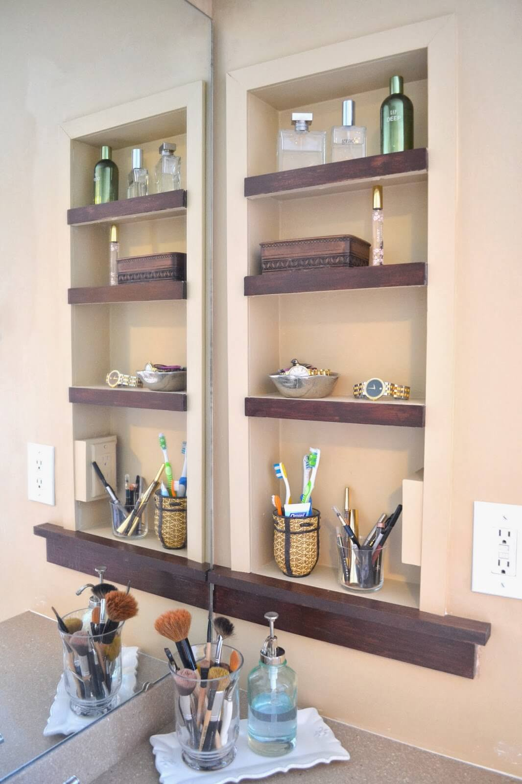 Wood Trimmed Inlaid Bathroom Unit