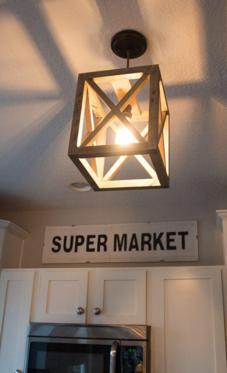 Make Your Own Farmhouse Lantern Light Fixture