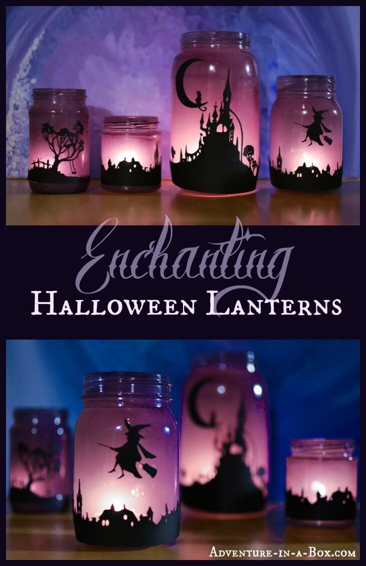Spellbinding Halloween Silhouette Lanterns