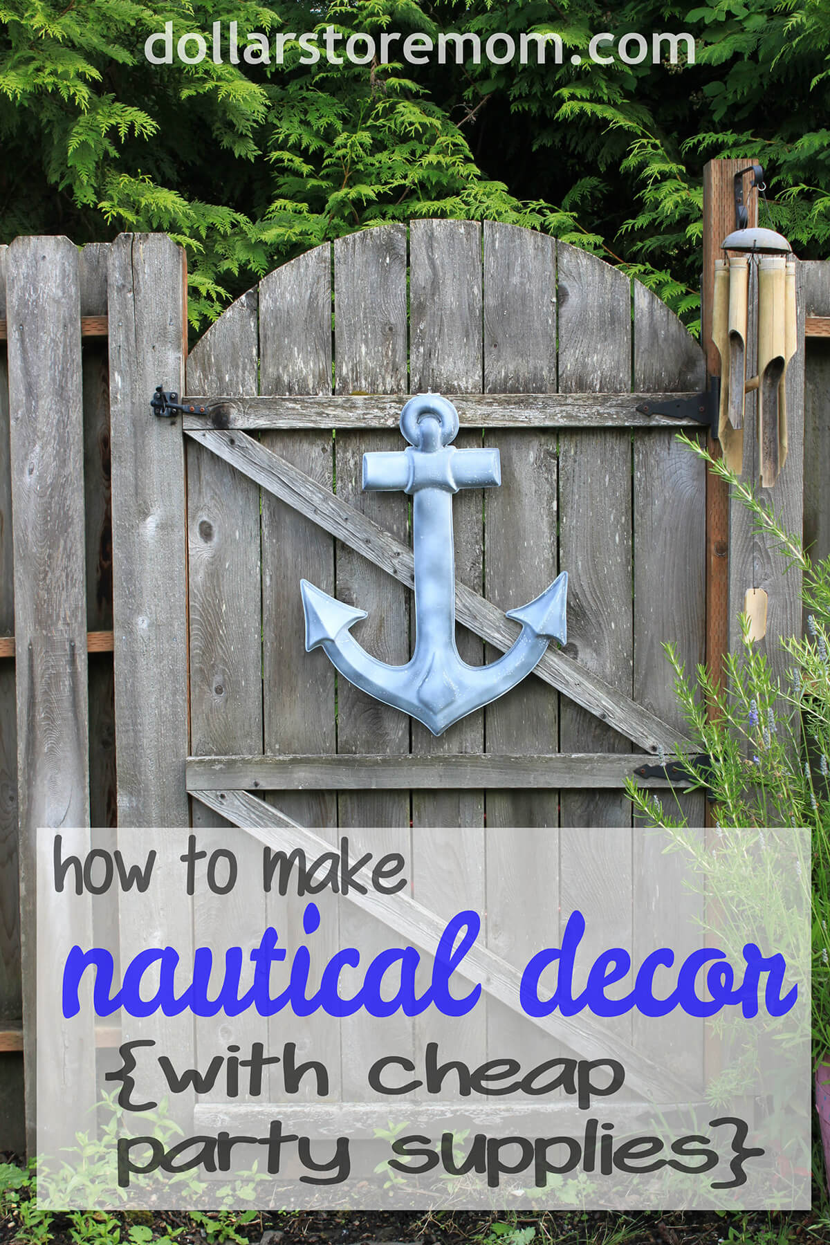 Make Your Own Hanging Anchor Sign