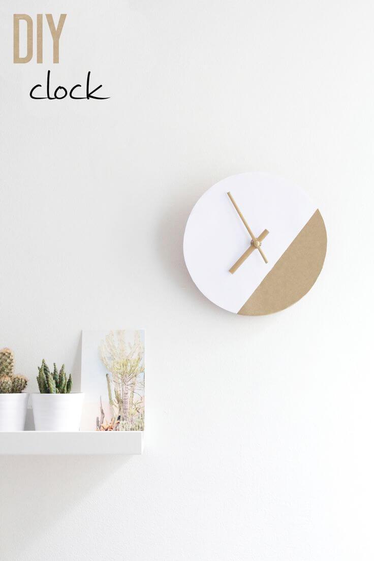 Two Tone Minimalist Clock Face