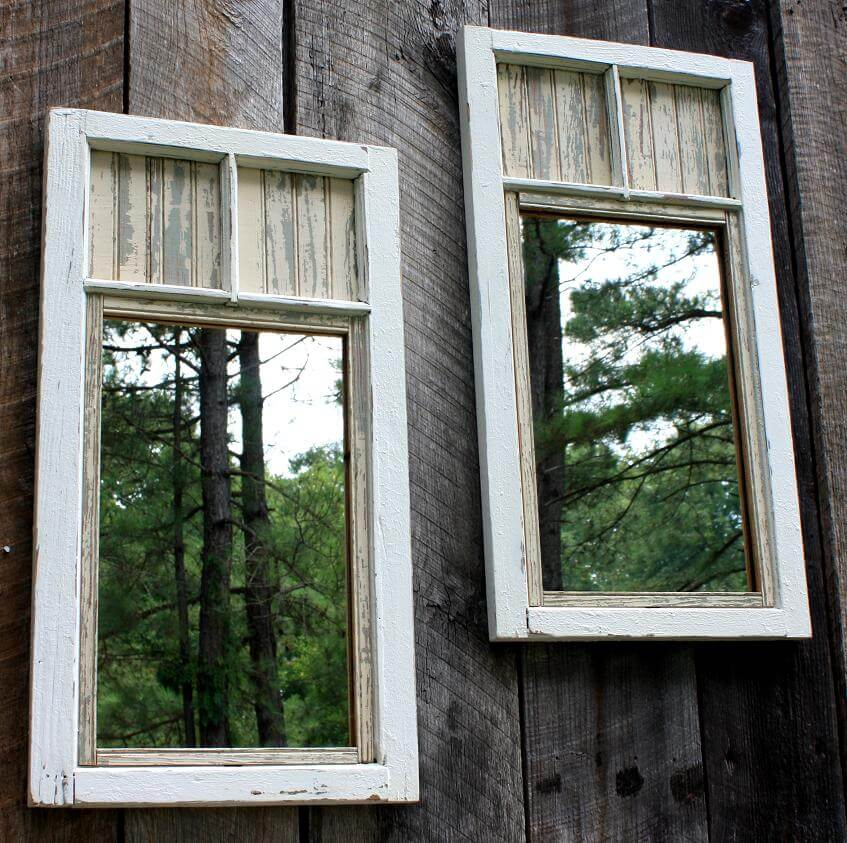 Hang Mirrors on the Garden Fence