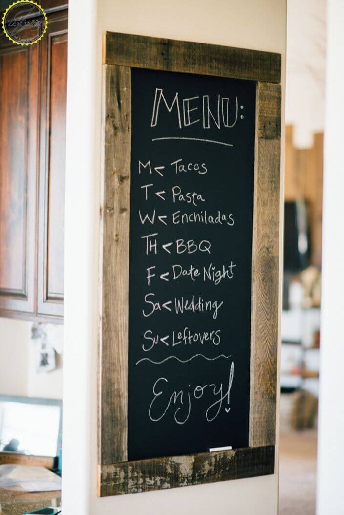 DIY Chalkboard Dinner Menu Project