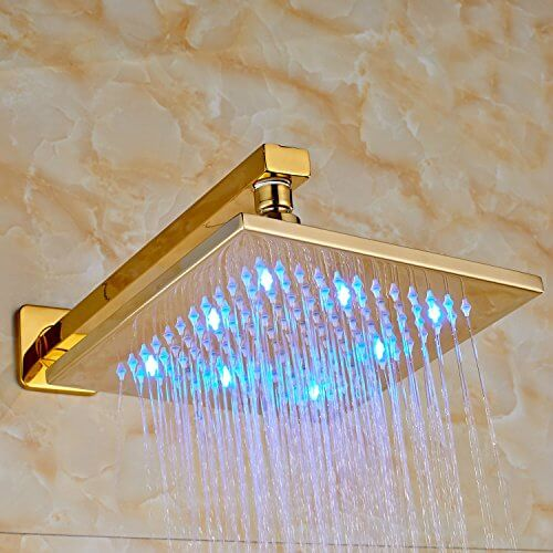 New, Votamuta Golden Finish Over Head Shower