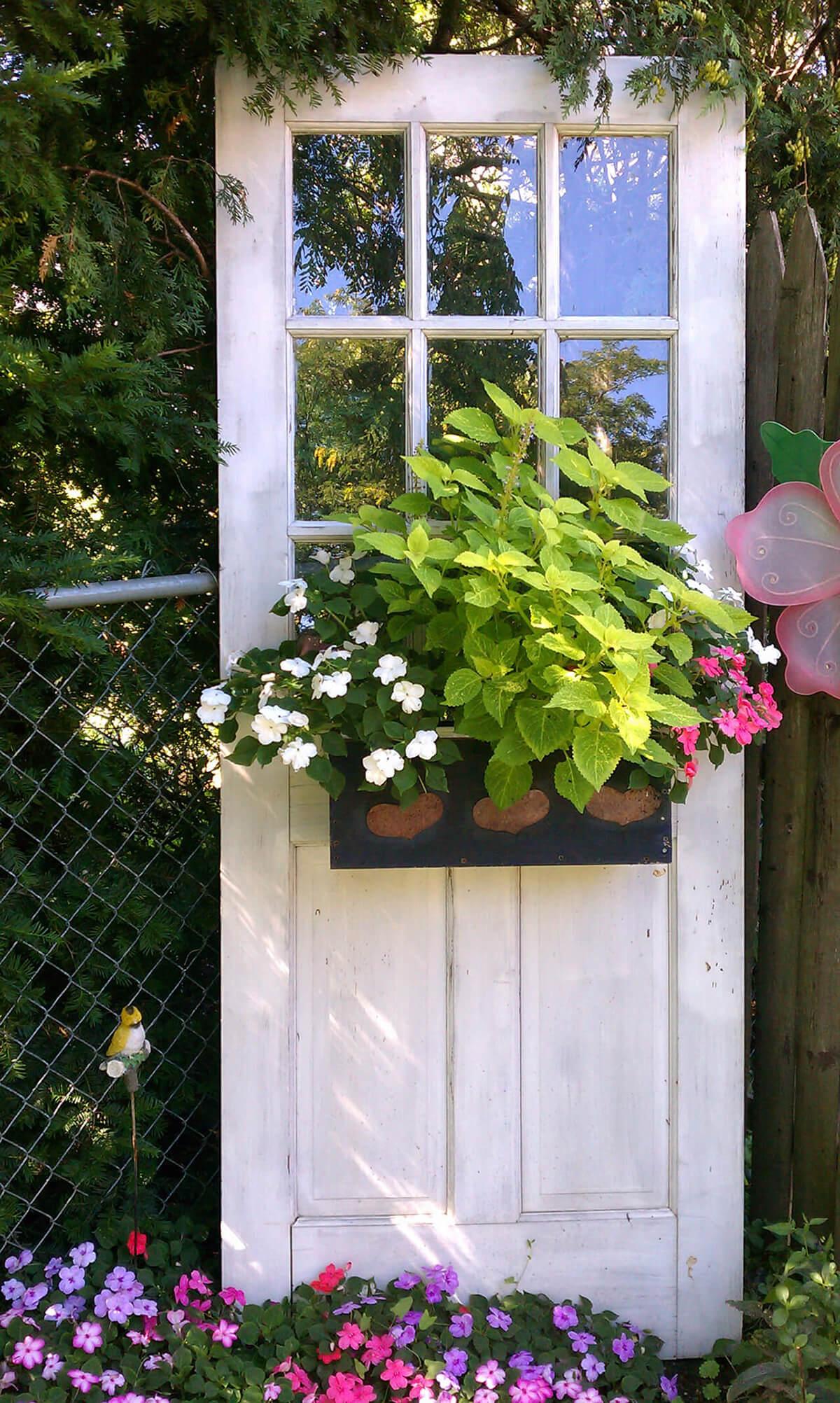 Standing Door with Blooming Flower Box