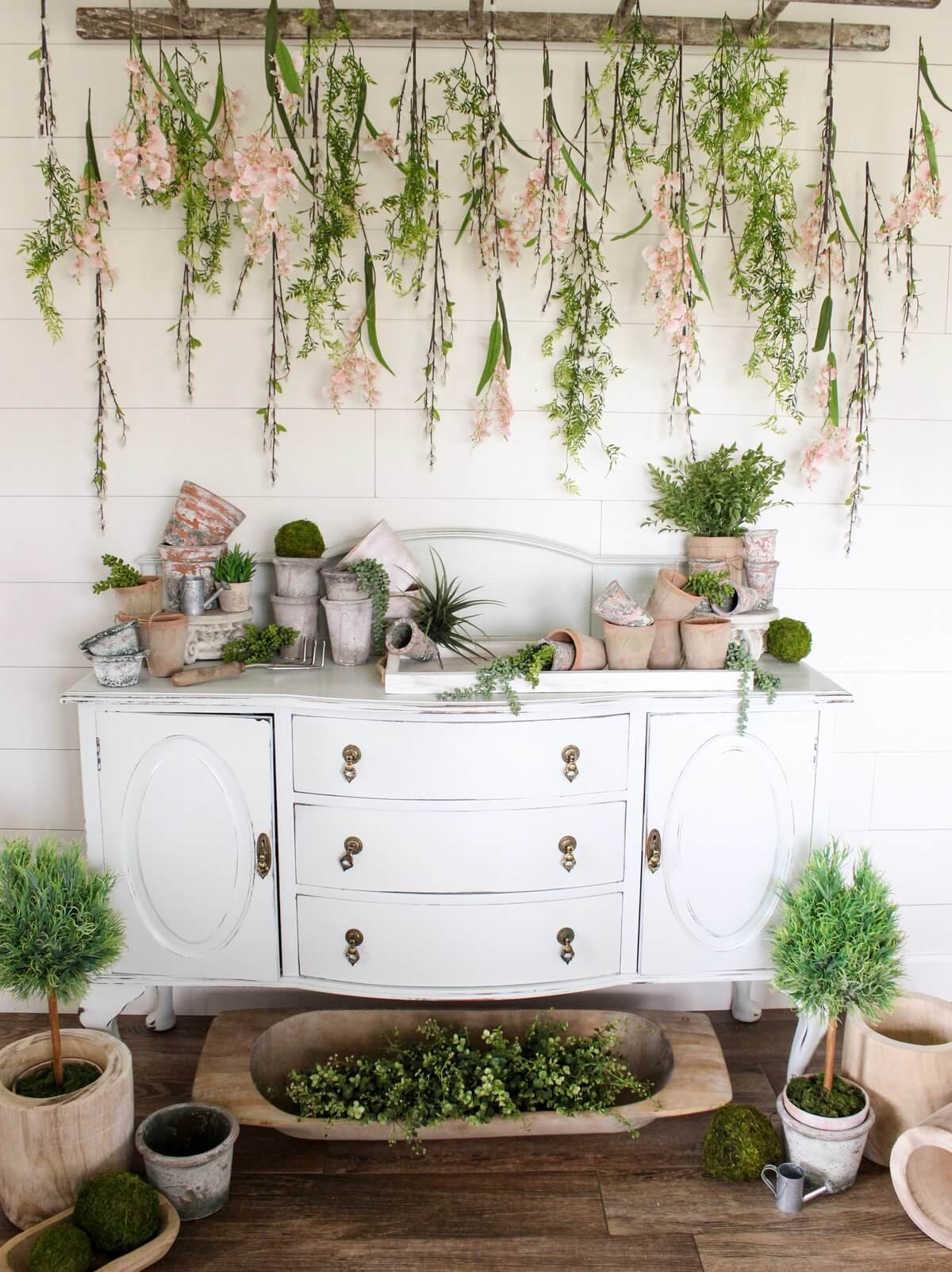 Moss and Vine Hanging and Planter Decor