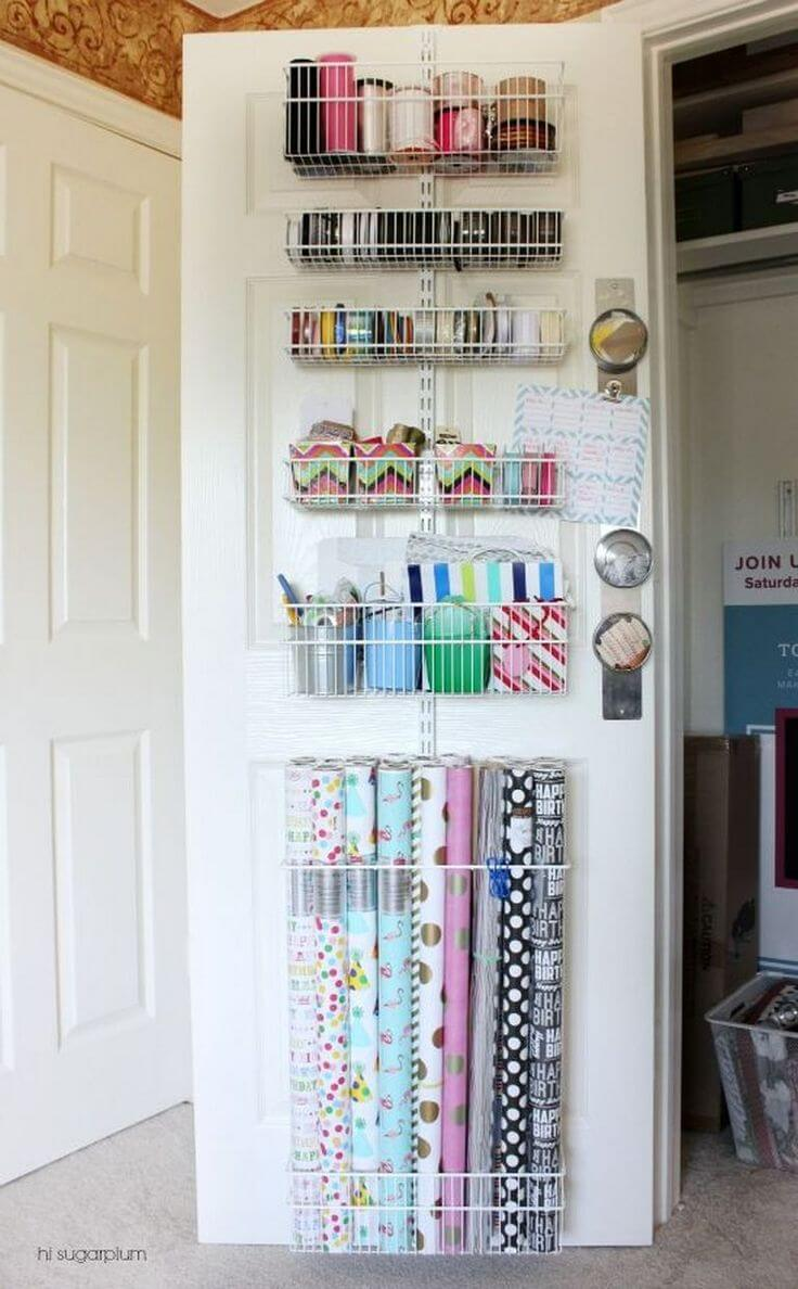 Drawer Hanging Gift Wrapping Station