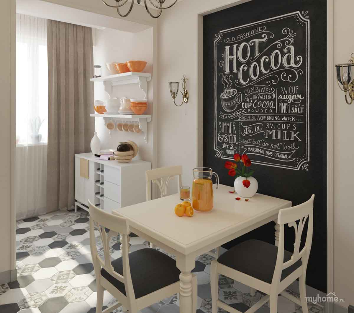 Chalkboard Backed Cottage Dinette Set