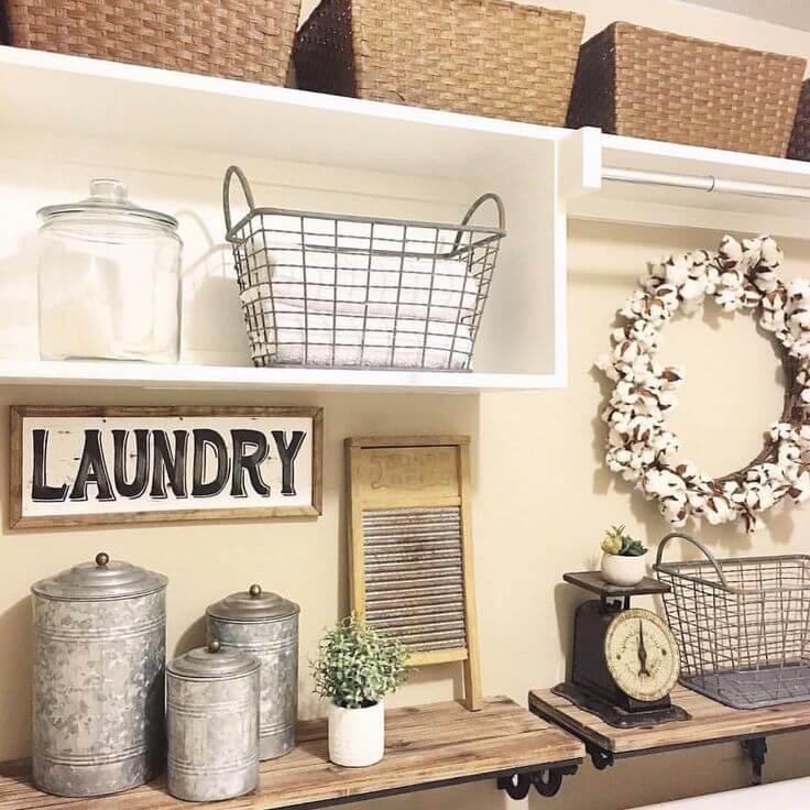 Antique Metal Laundry Room Decor Ideas