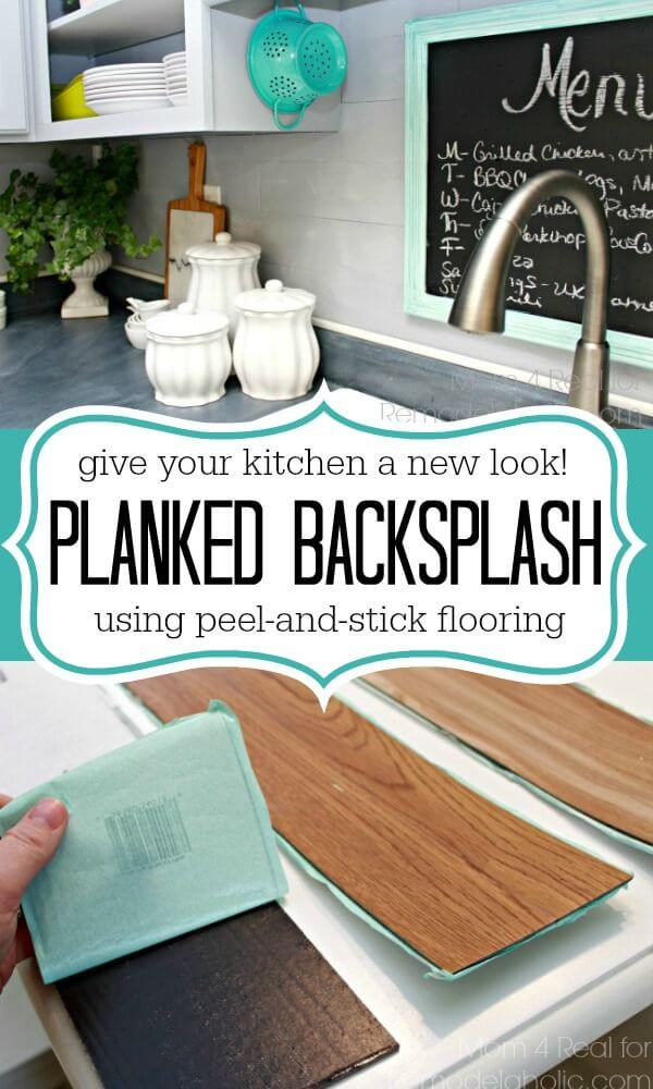 DIY Backsplash Ideas Often Feature Flooring