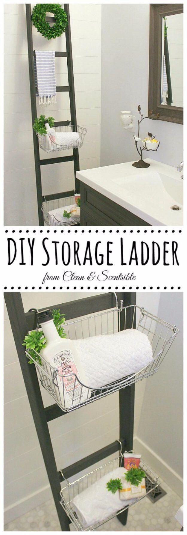 Gardener's Ladder Leaning Basket Shelves