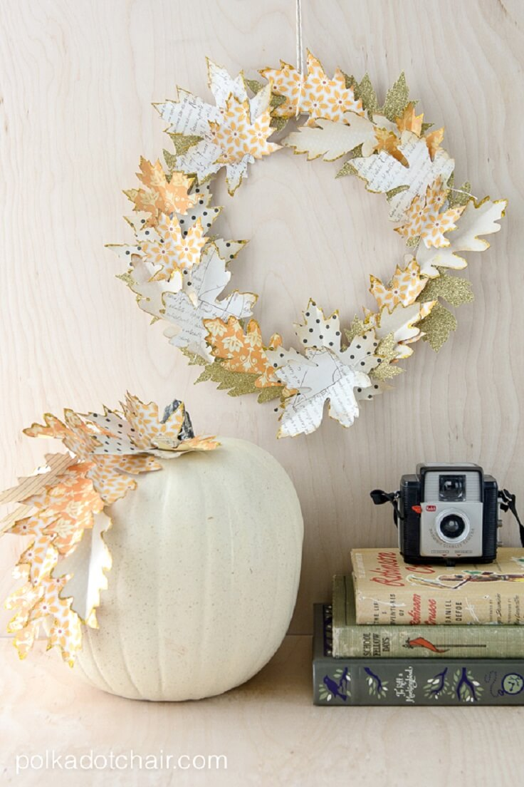DIY Patterned Metallic Leaf Accents