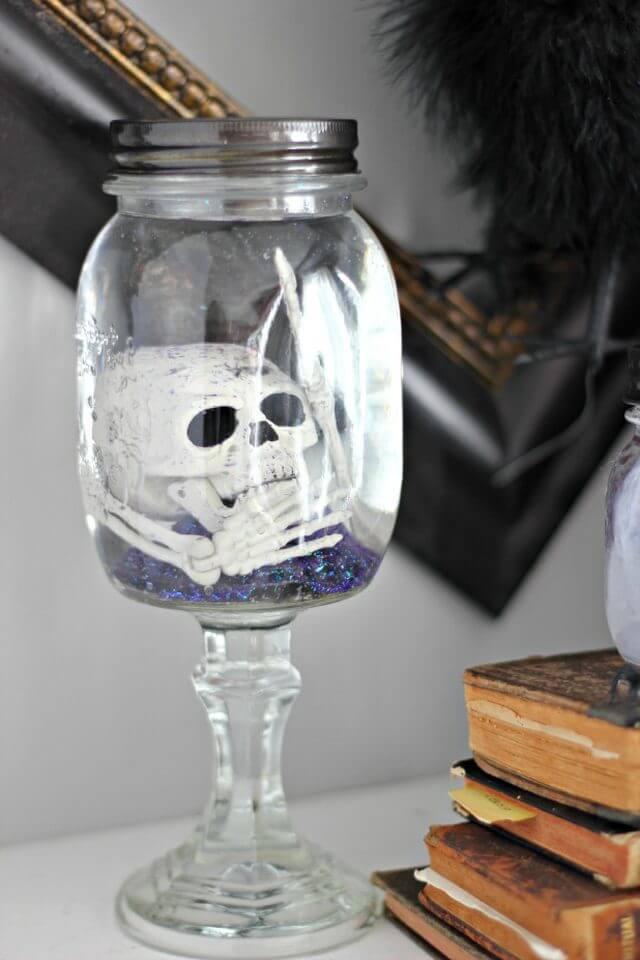Creepy Skeleton-In-A-Jar Halloween Craft