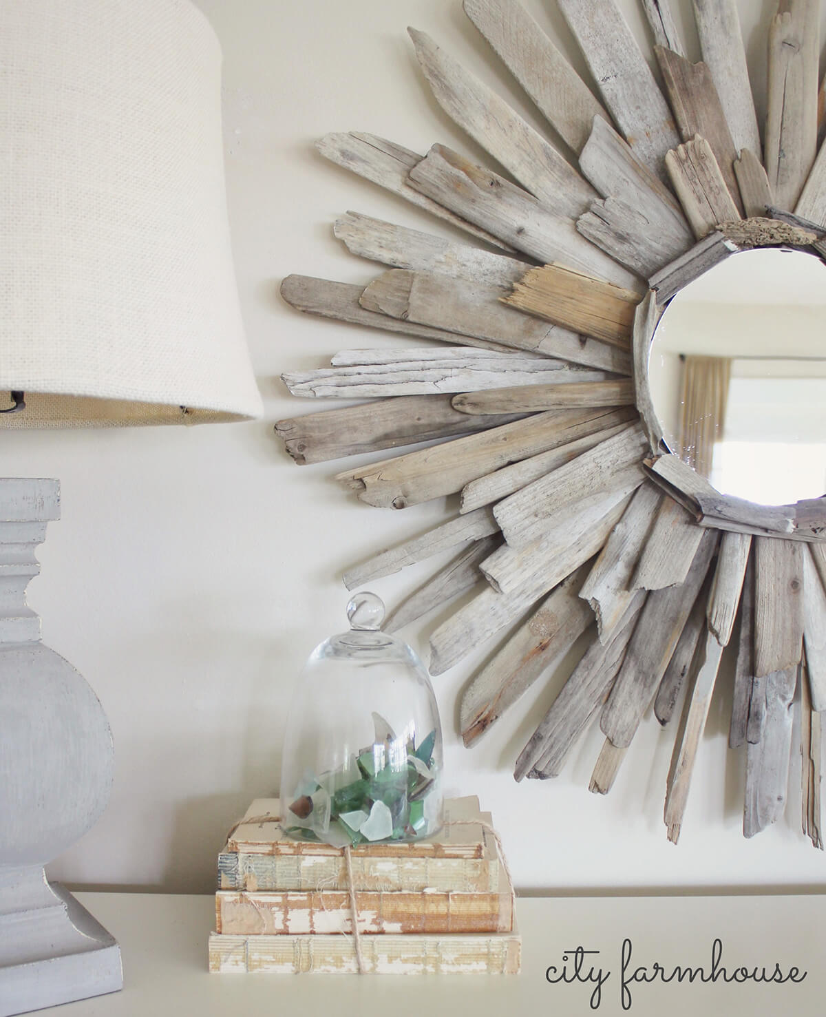 Sunburst Mirror Made with Reclaimed Wood