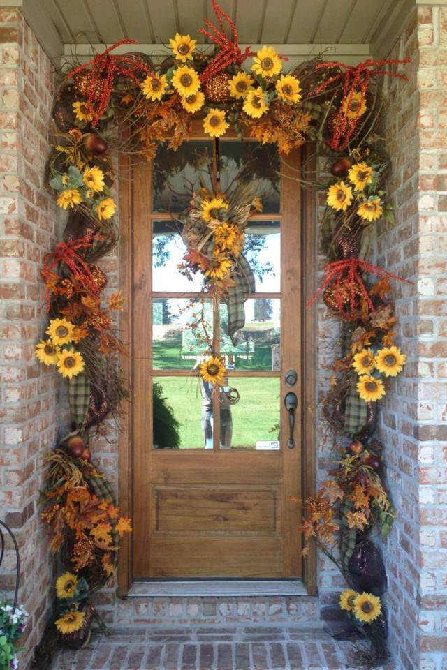 Sunflowers and Leaves Fall Garland