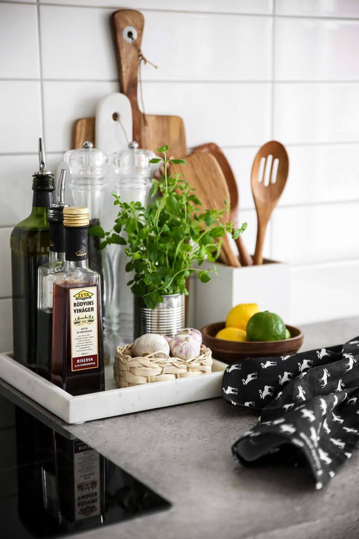 Condiment and Herb Kitchen Tray