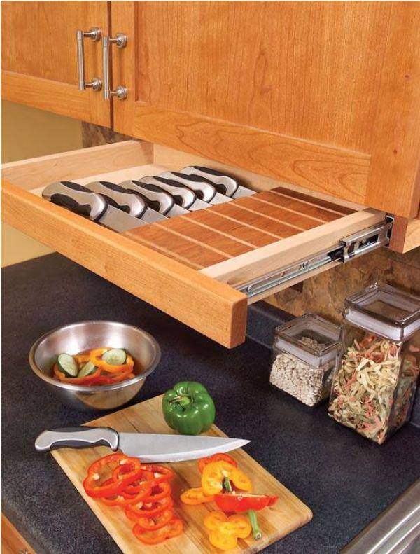 Install a Narrow Gliding Drawer Under Cabinets