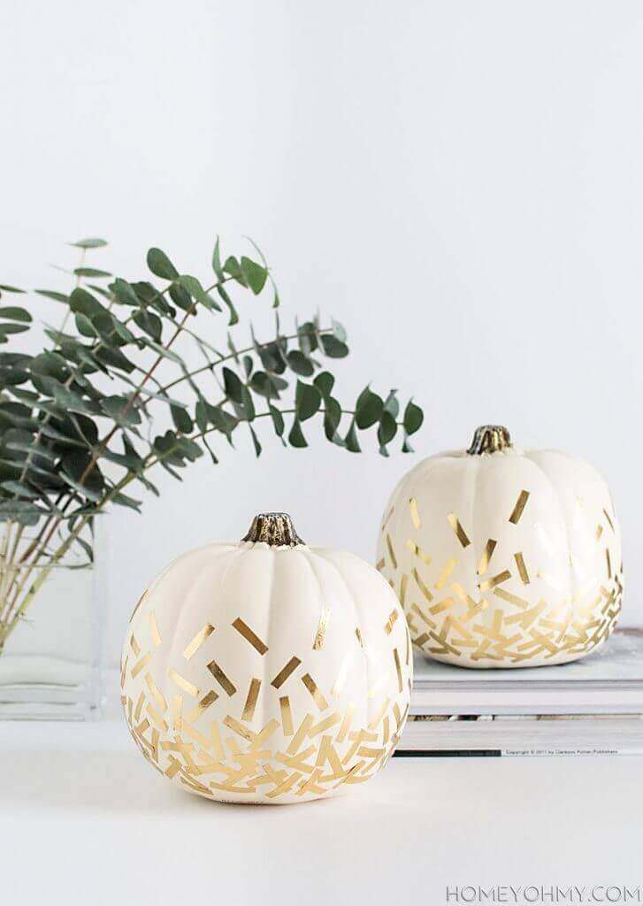 Elegant Indoor No-Carve Pumpkin Decorating Ideas