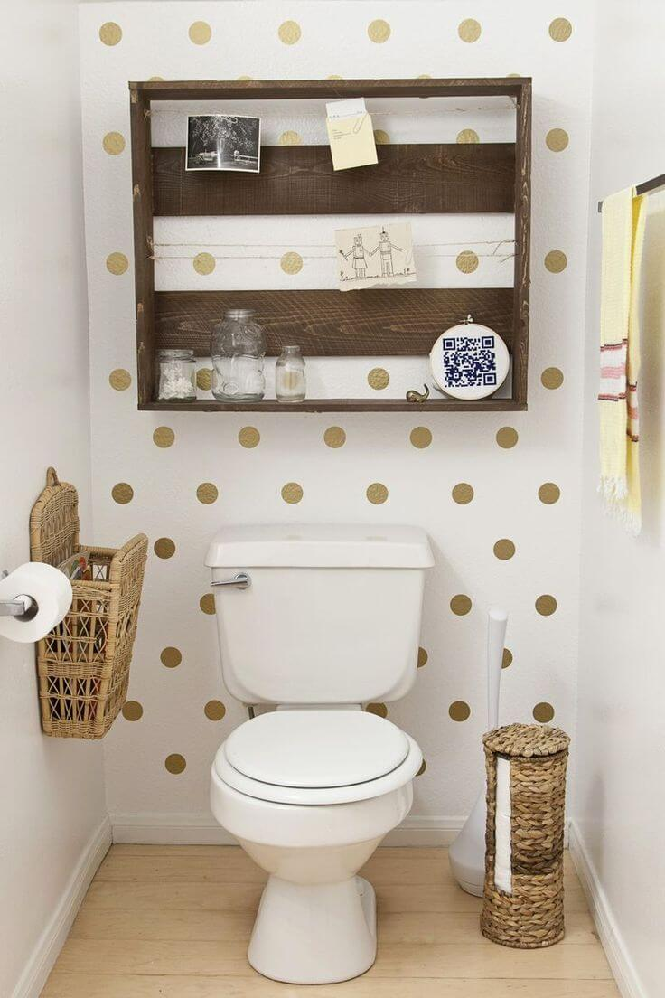 Upcycled Wood Pallet Bathroom Organizer