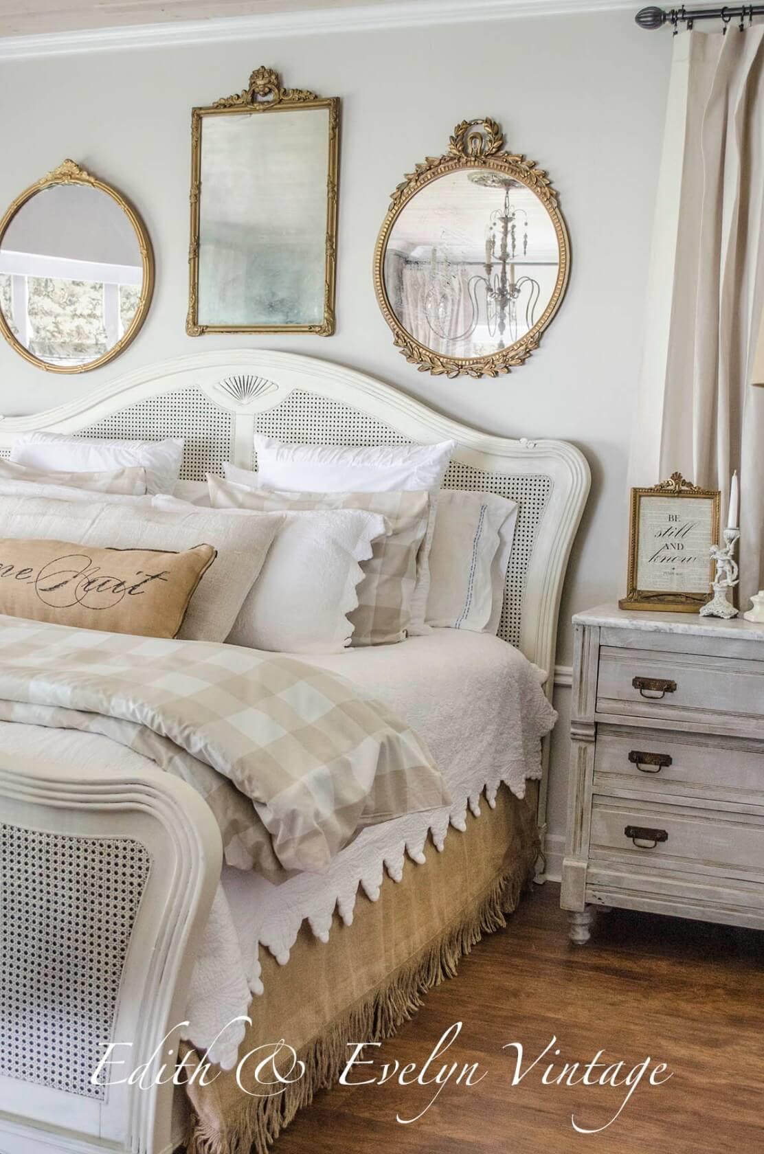 Vintage Parlor Multi-Mirrored Bed Trio
