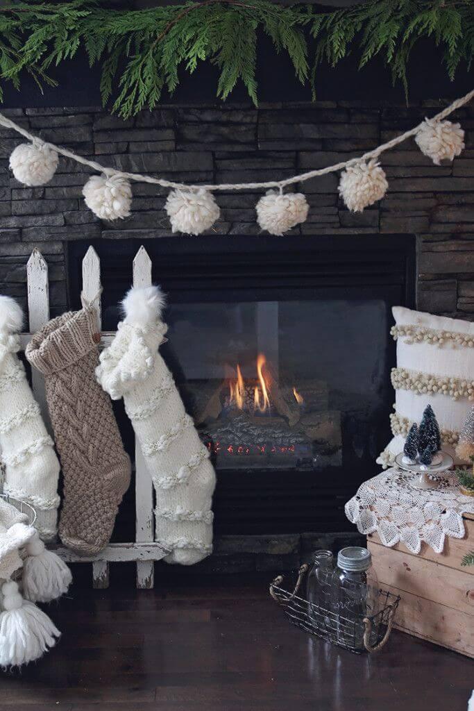Warm and Fuzzies Fireplace Garland
