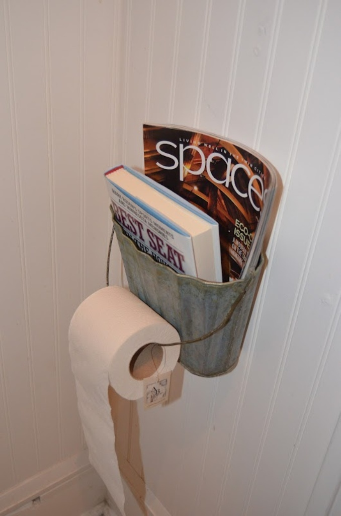 Galvanized Wall-Pocket Toilet Paper Holder