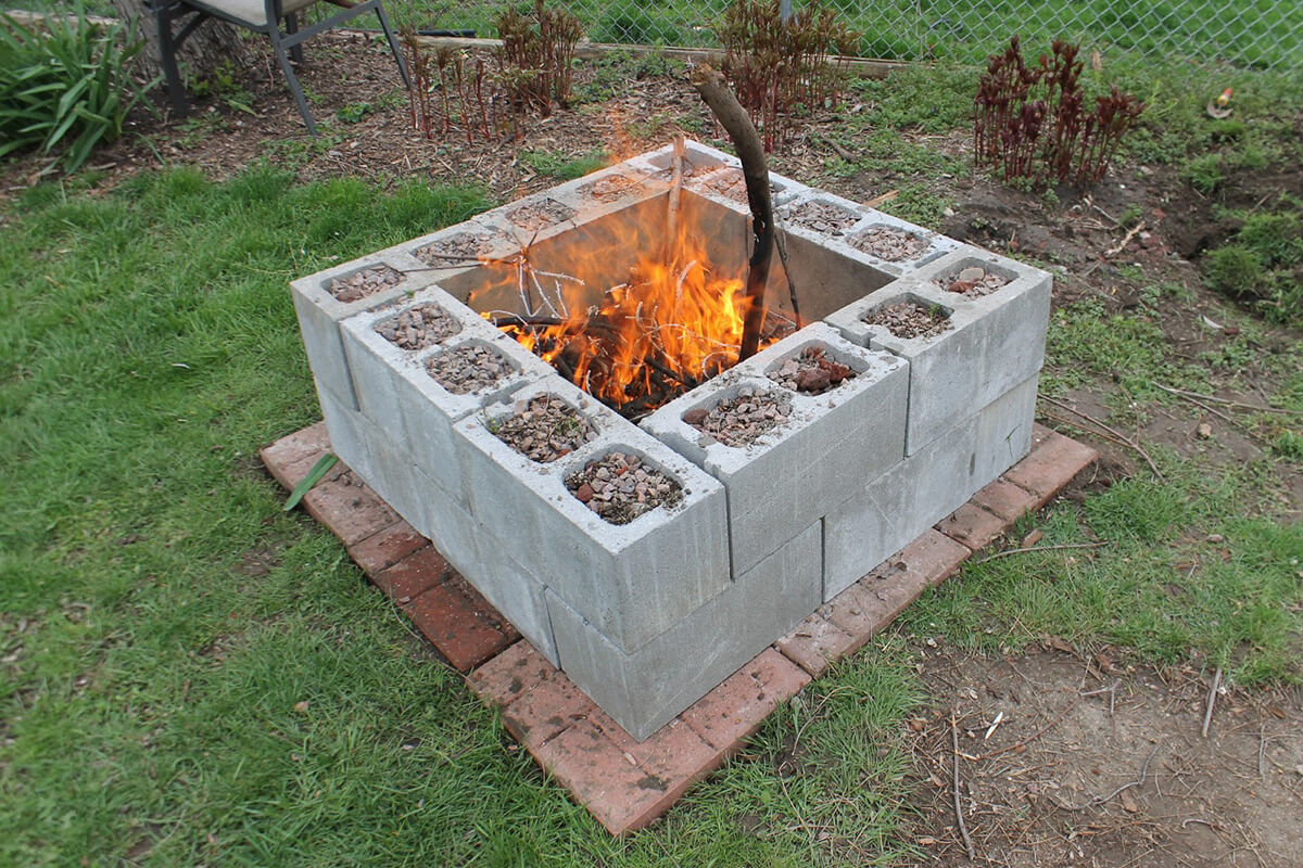 Create Your Own Cinder Block Fire Pit!
