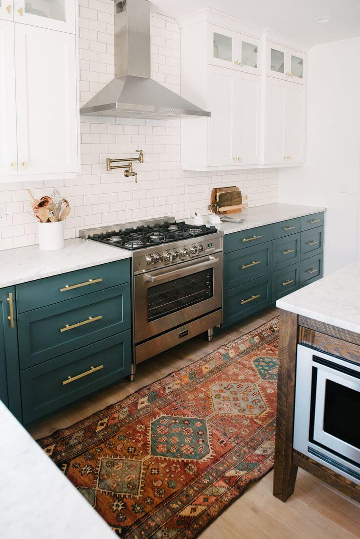 Muted Sea Green Sets Off Gold Hardware