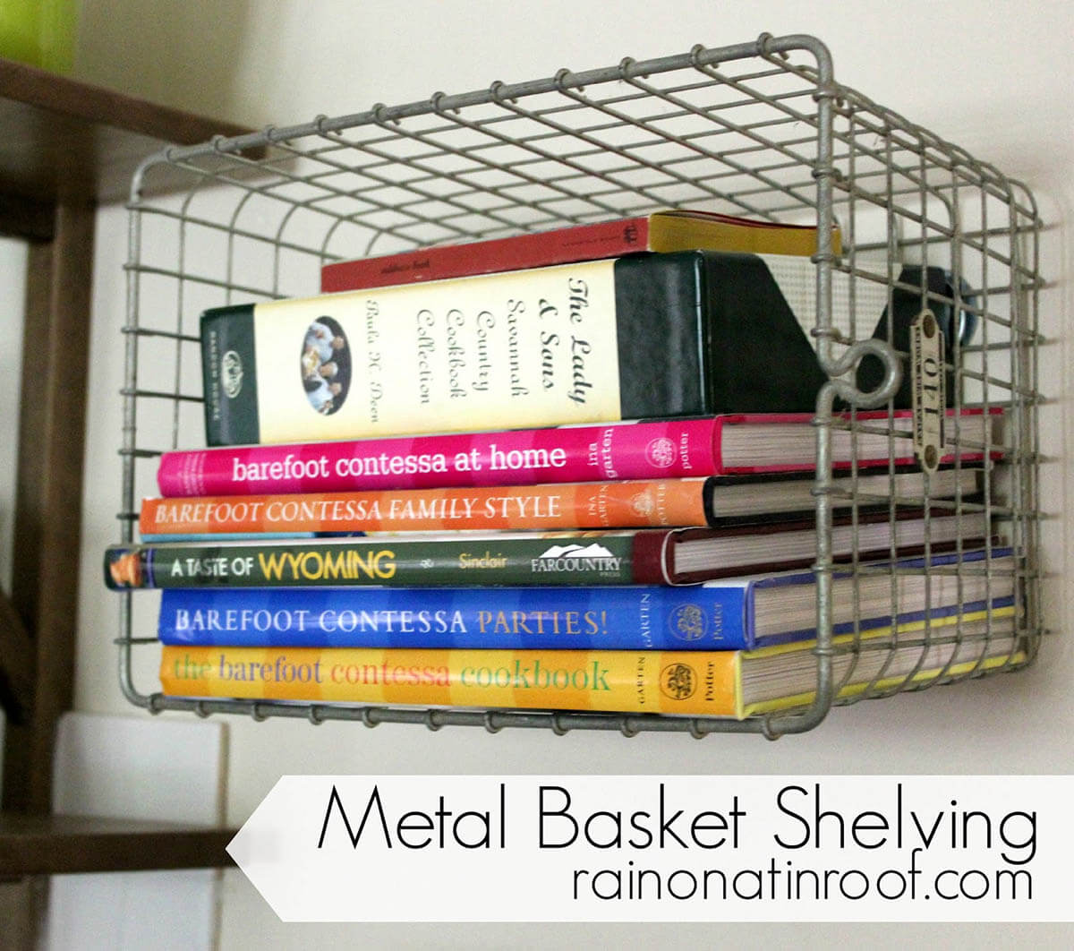 Easy DIY Hardware Store Wire Basket