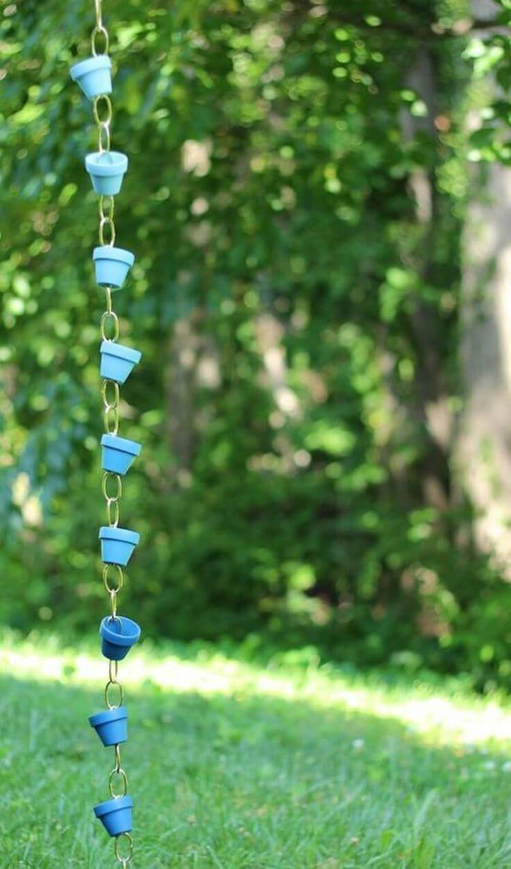 Hang Little Blue Pots from a Chain