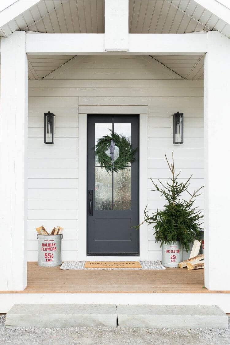 Matte Black Glass Windowed Front Door