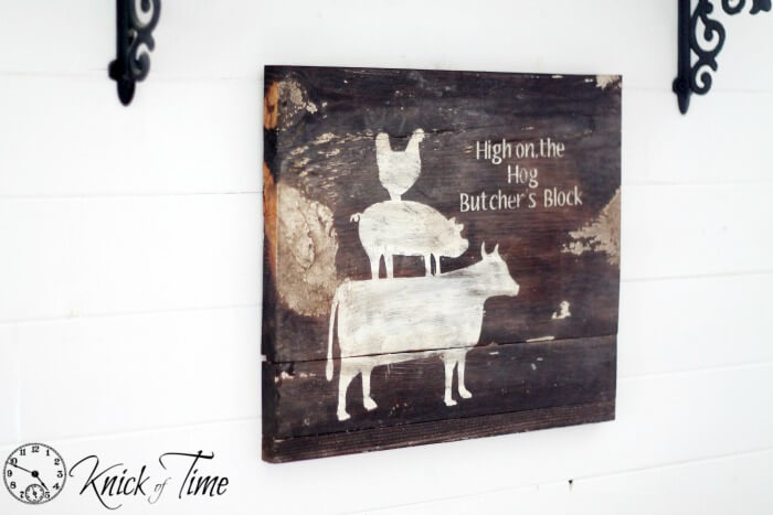 Rustic Painted Wooden Farmhouse Kitchen Sign
