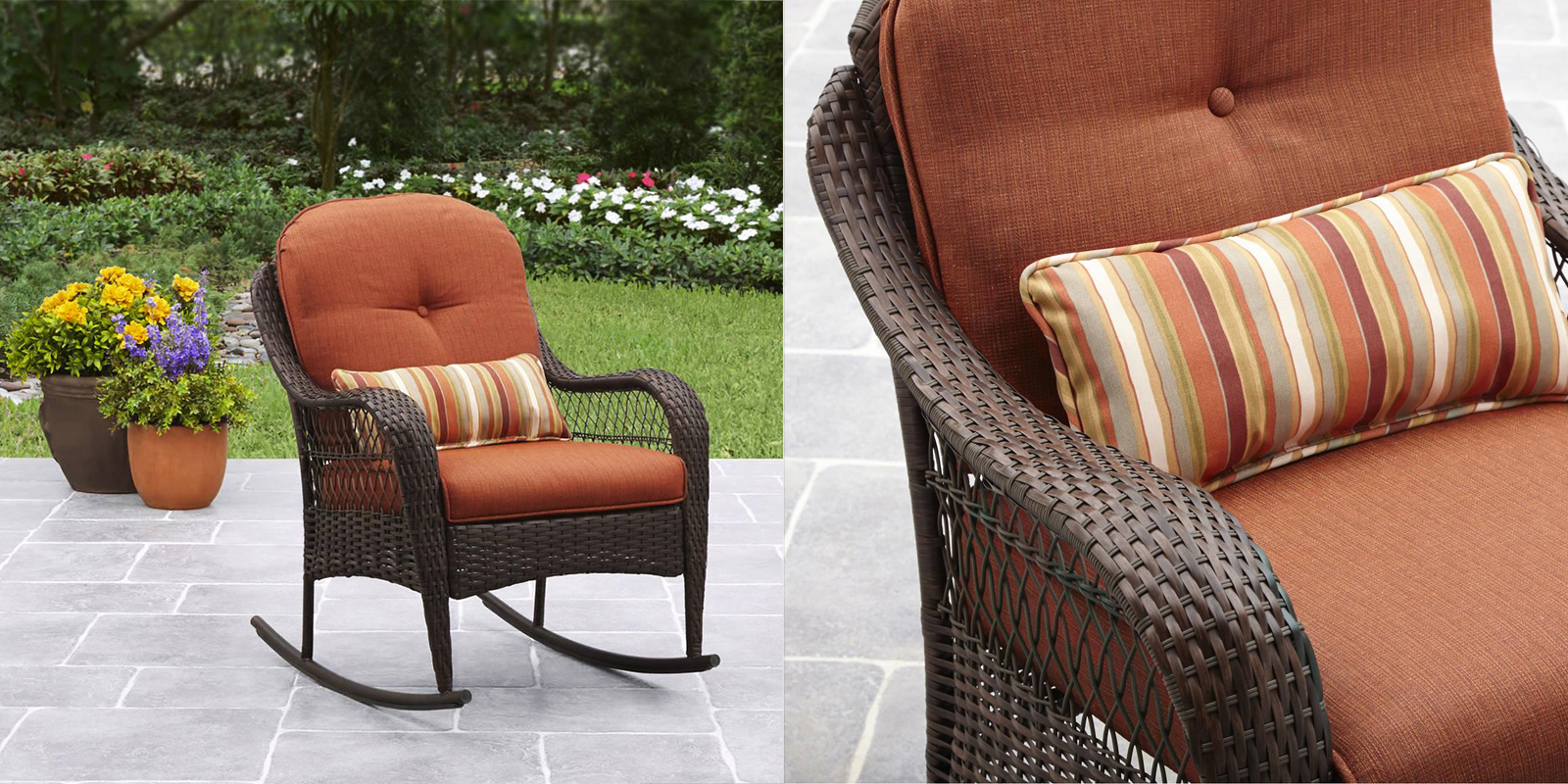 Patio Chair - All-Weather Wicker Rocker