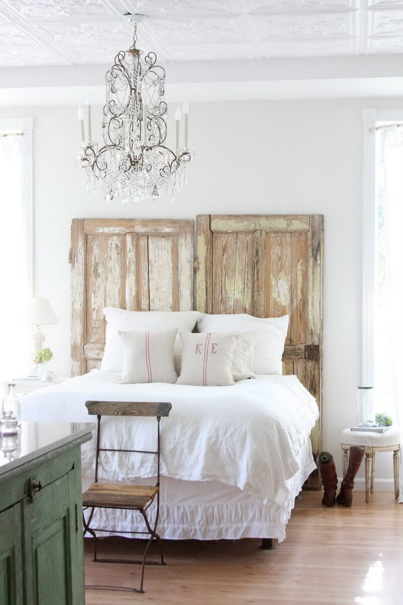 Reuse Old Doors as a Headboard