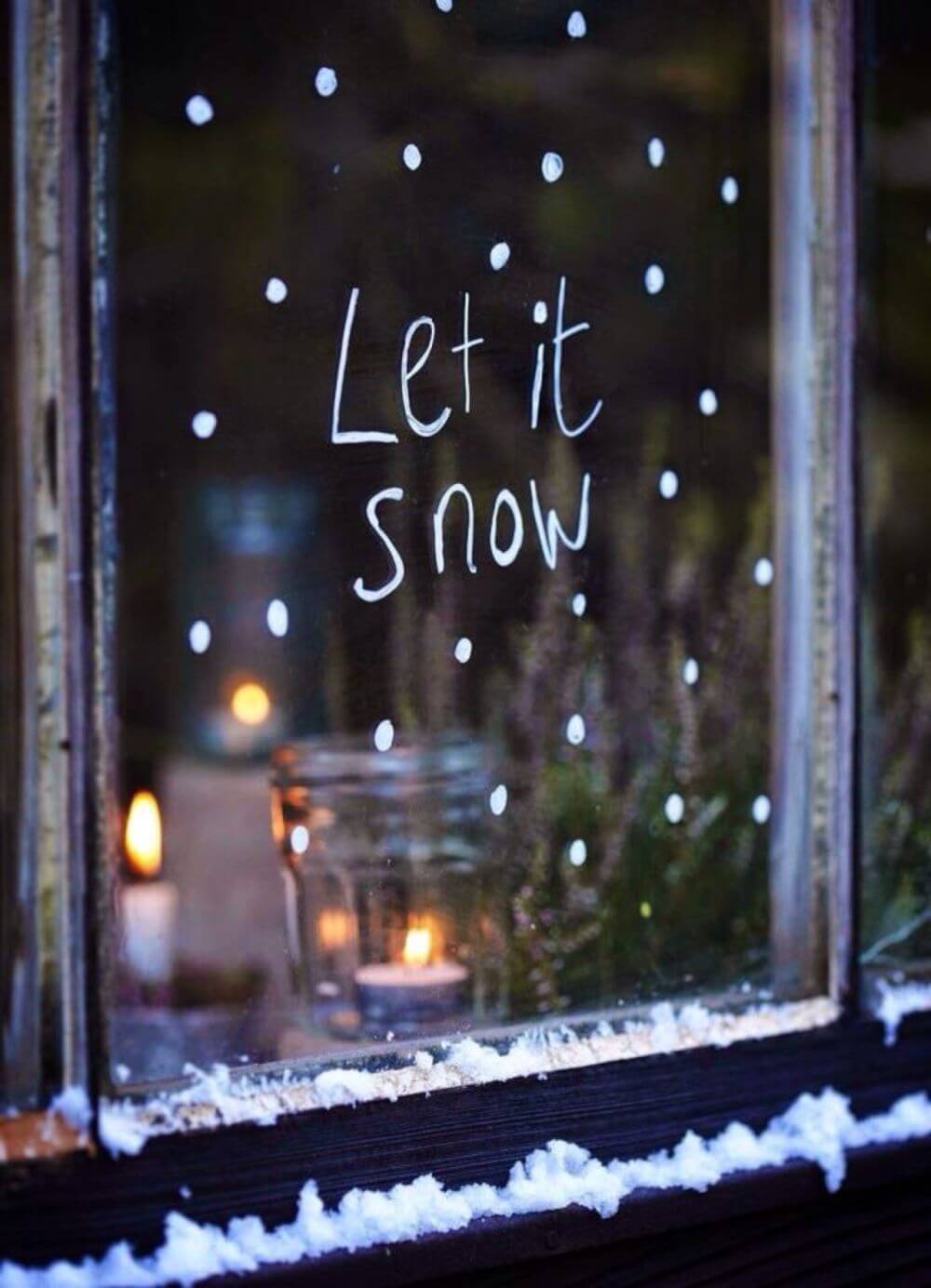 Simple Let It Snow Christmas Decoration