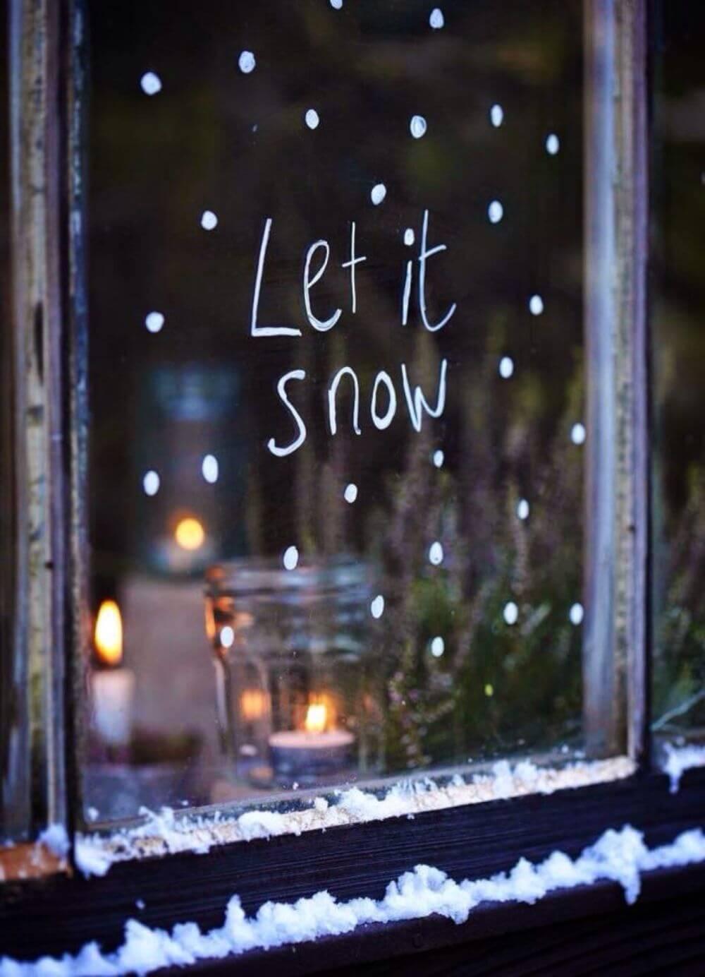 Simple Let It Snow Christmas Decoration