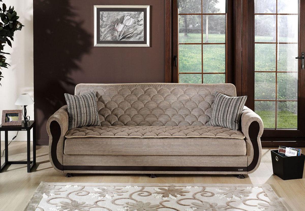 Argos Zilkade Light Brown Convertible Sofa Bed by Sunset