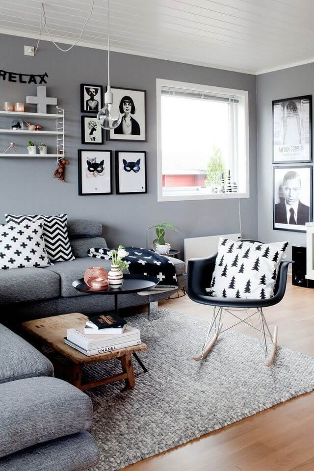 Black, White, and Gray Arrangement
