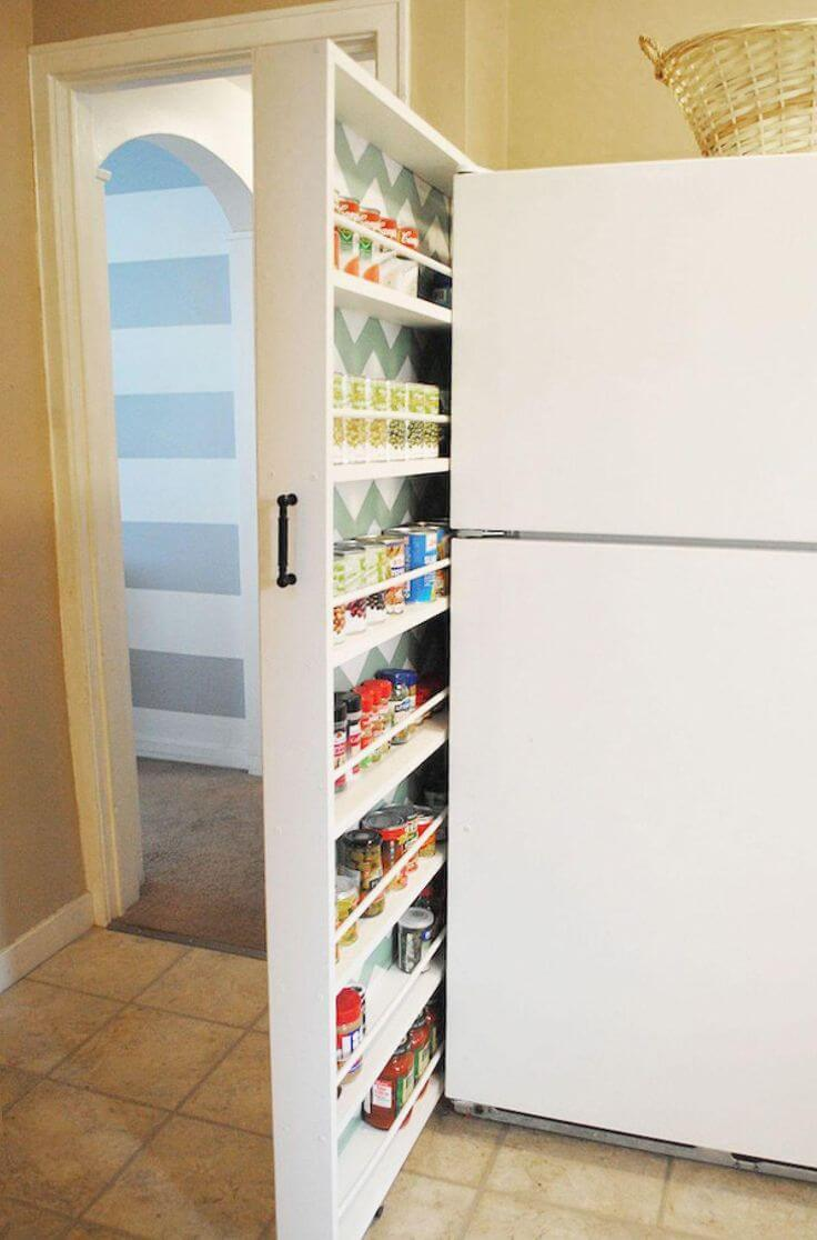 Murphy Bed Inspired Rollout Pantry Concept