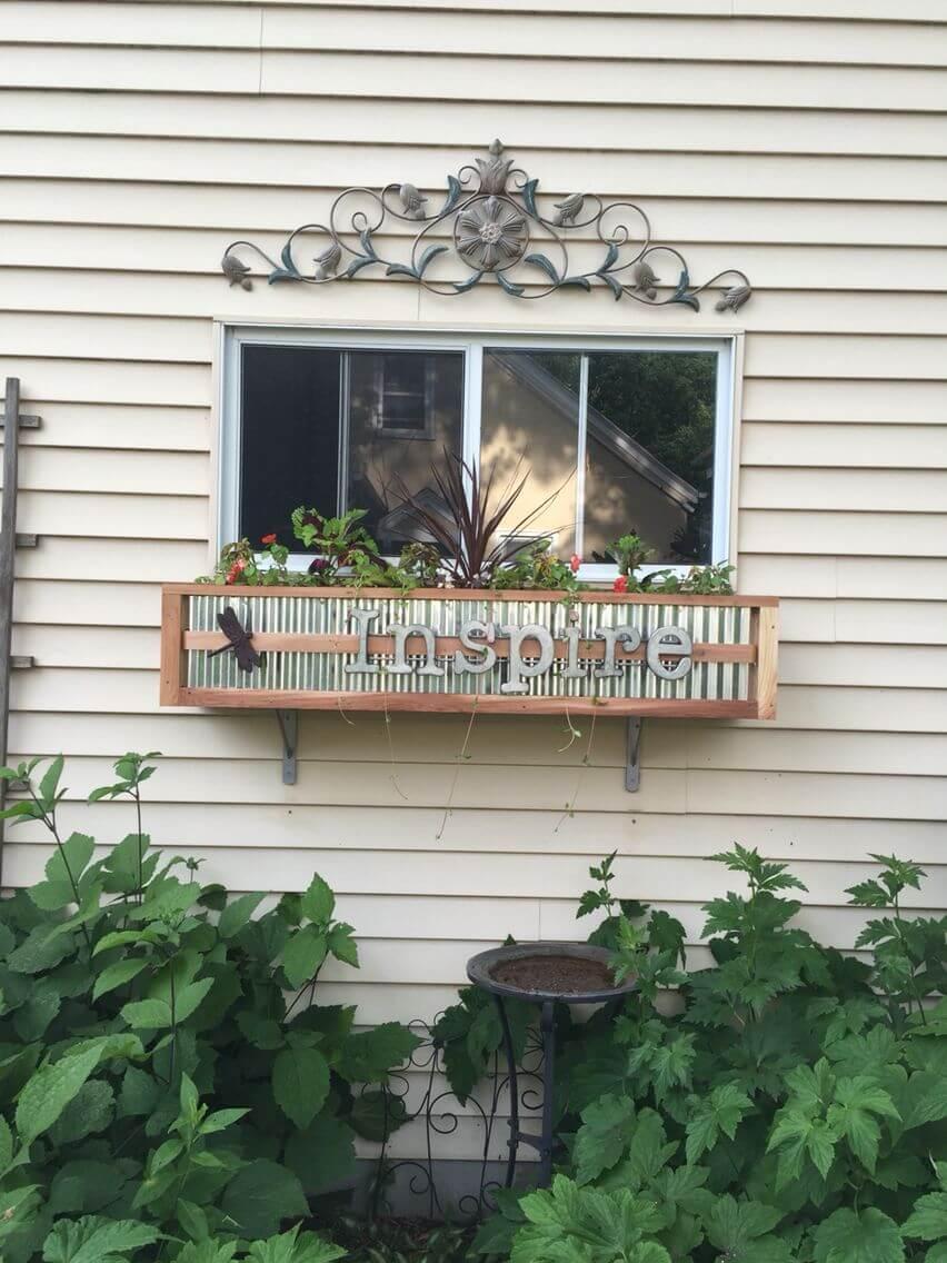 Farmhouse Tin and Wood Box