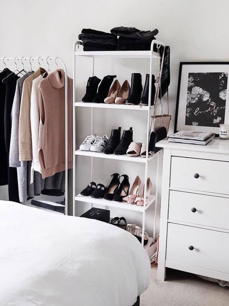 Trolley Shelf For Multiple Layer Shoe Storage