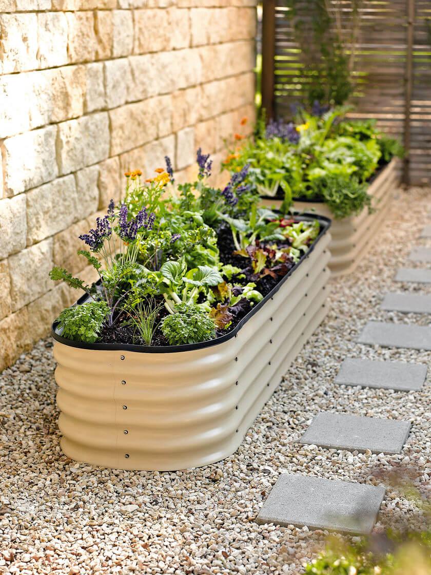 DIY Metal Tub Planter Boxes