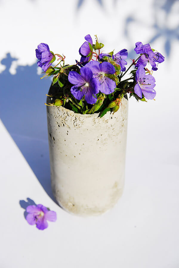 Small DIY Flower Pot from Concrete