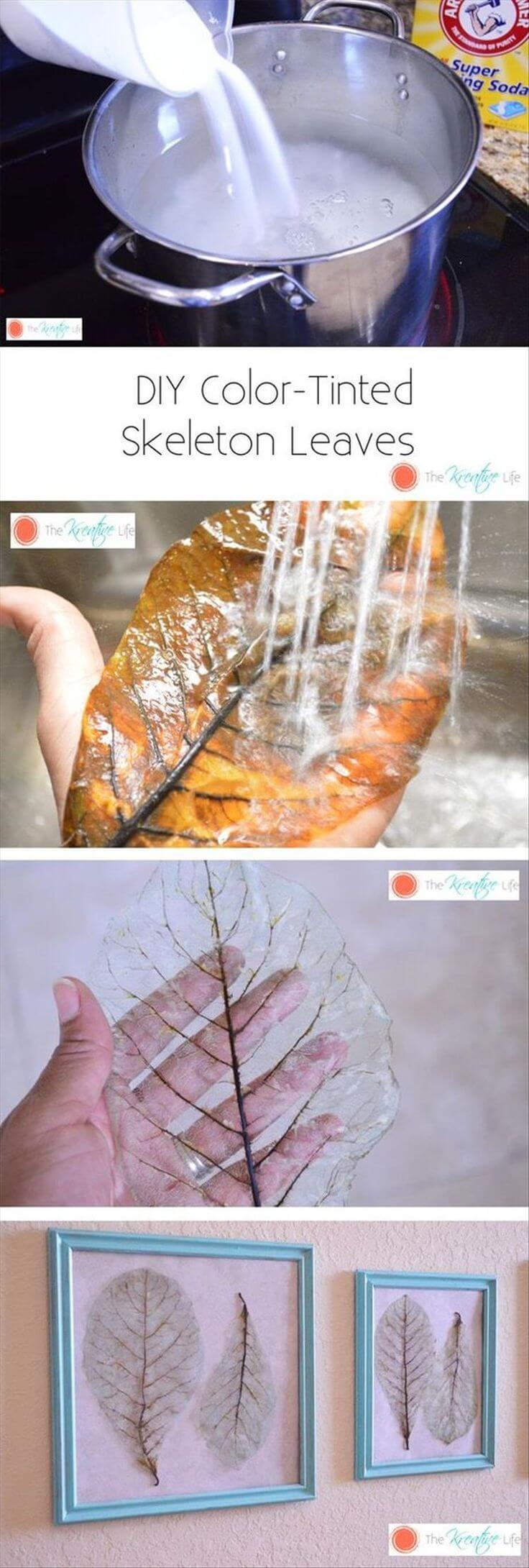 Easy Ethereal Bleached Leaf Skeletons