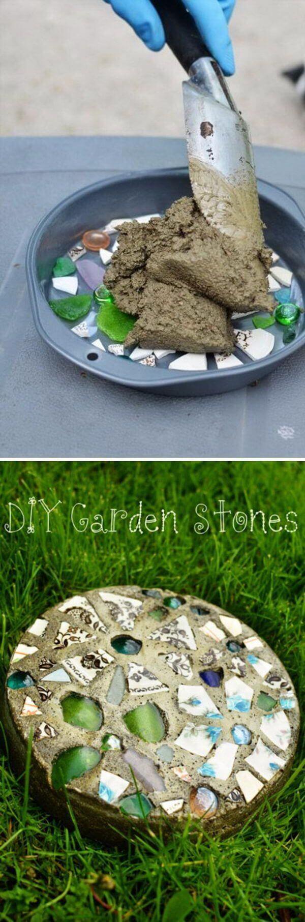 Make a Garden Stone with Concrete