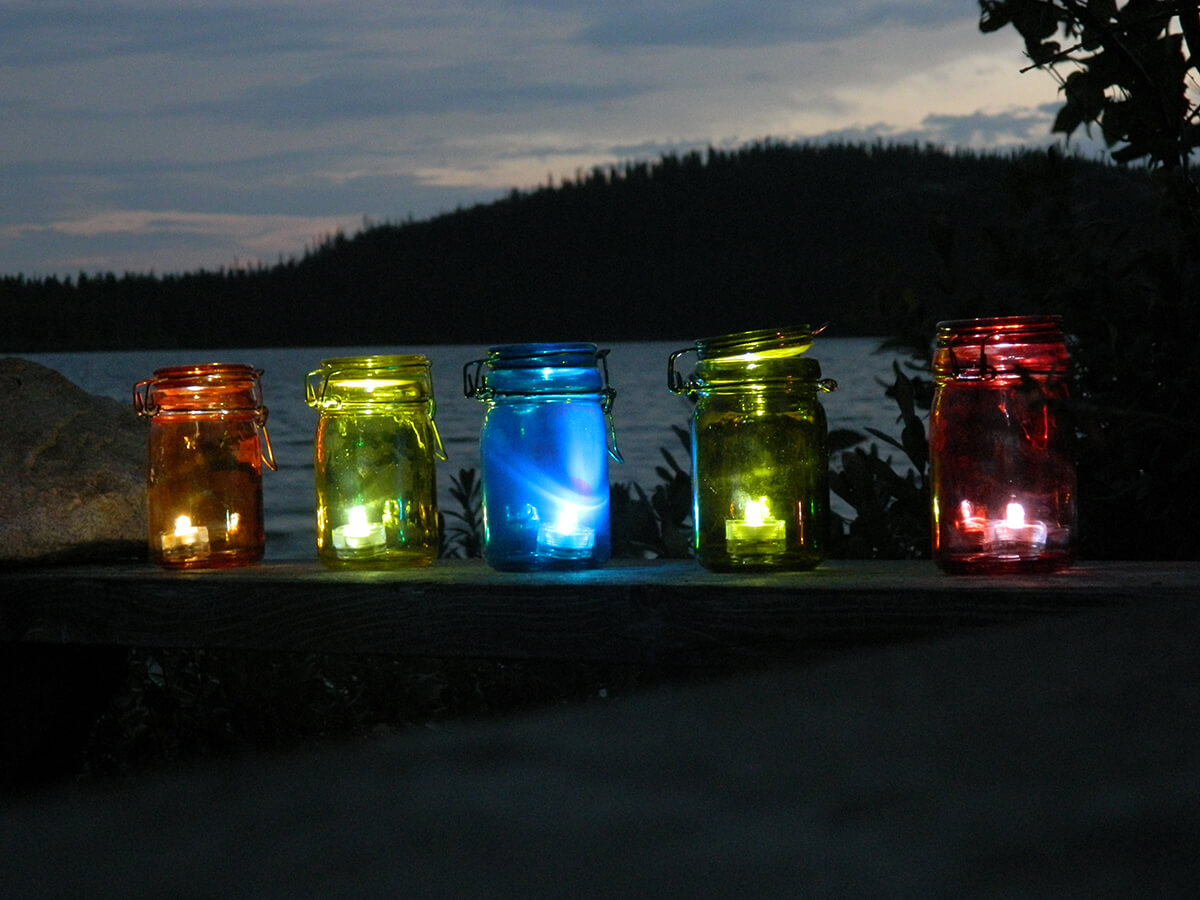 Simply Put a Tea Light in a Mason Jar
