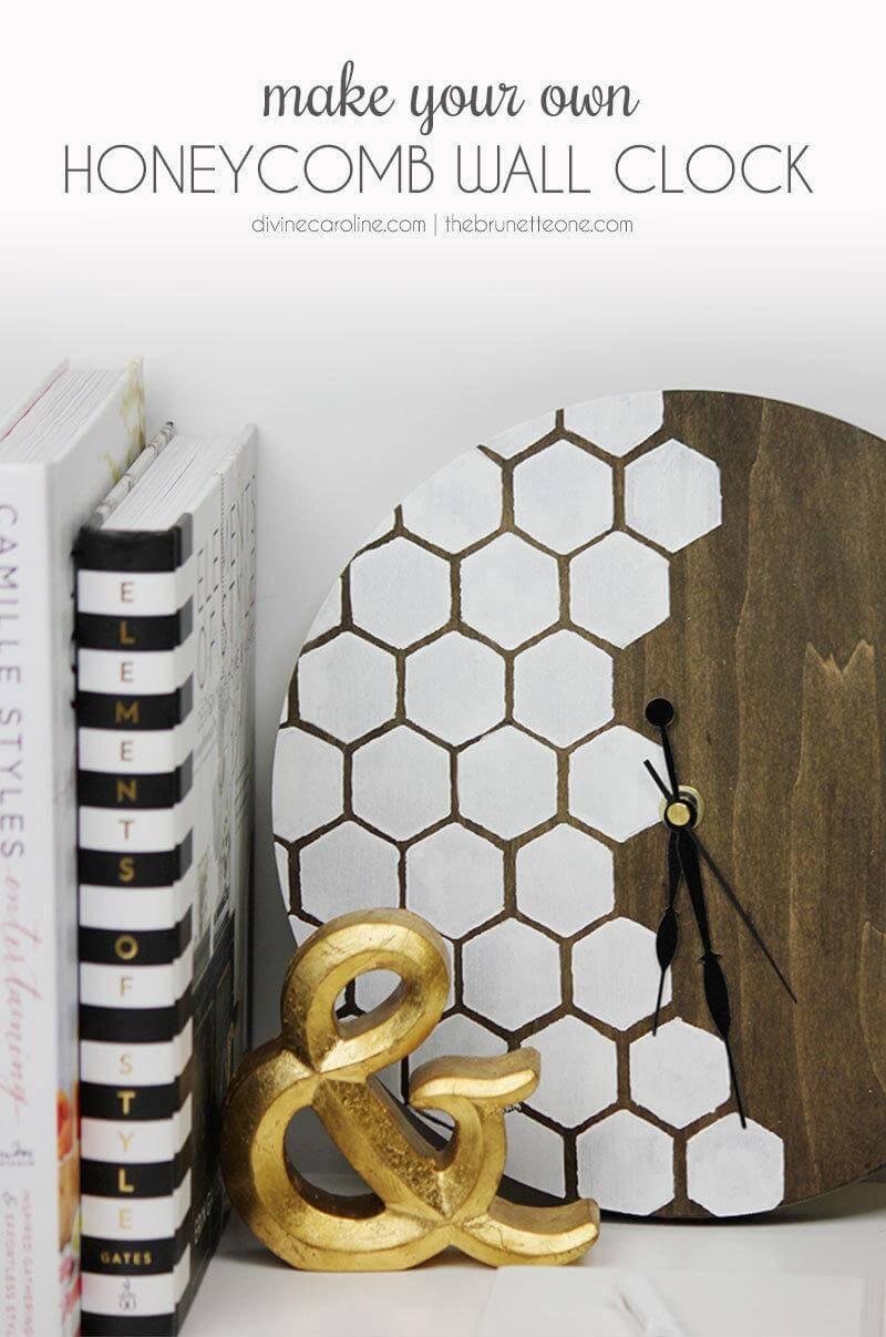 Warm Wood and White Honeycomb Combo
