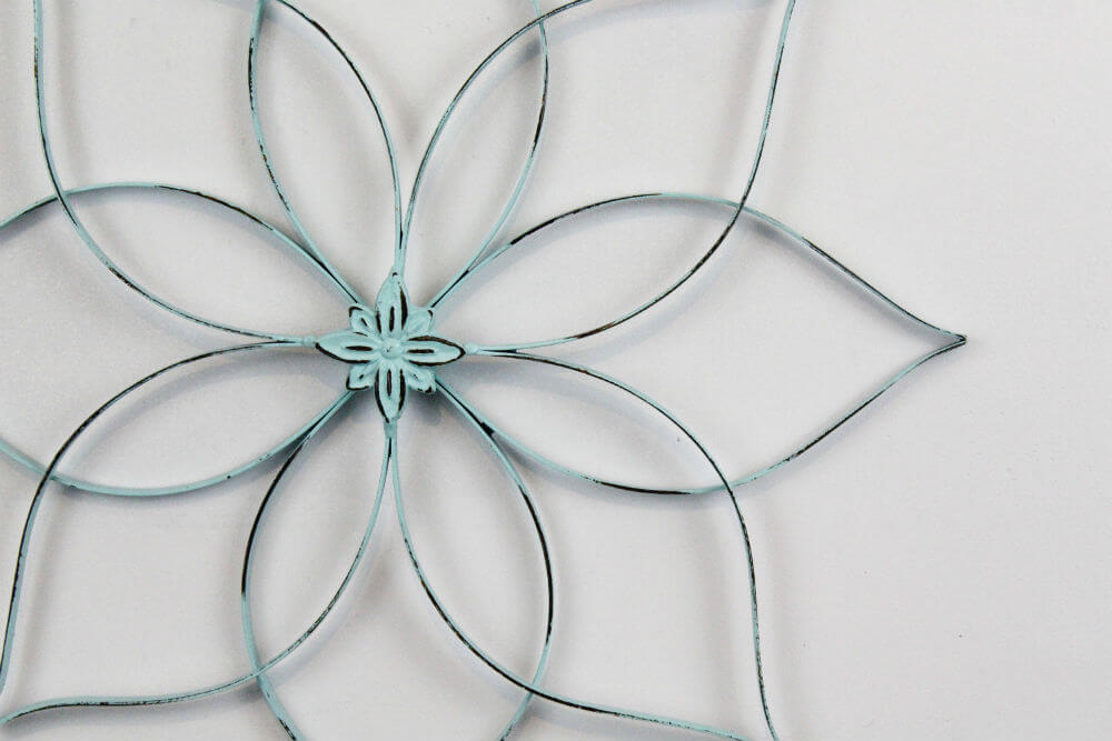 Large Modern Metal Flower Wall Decoration