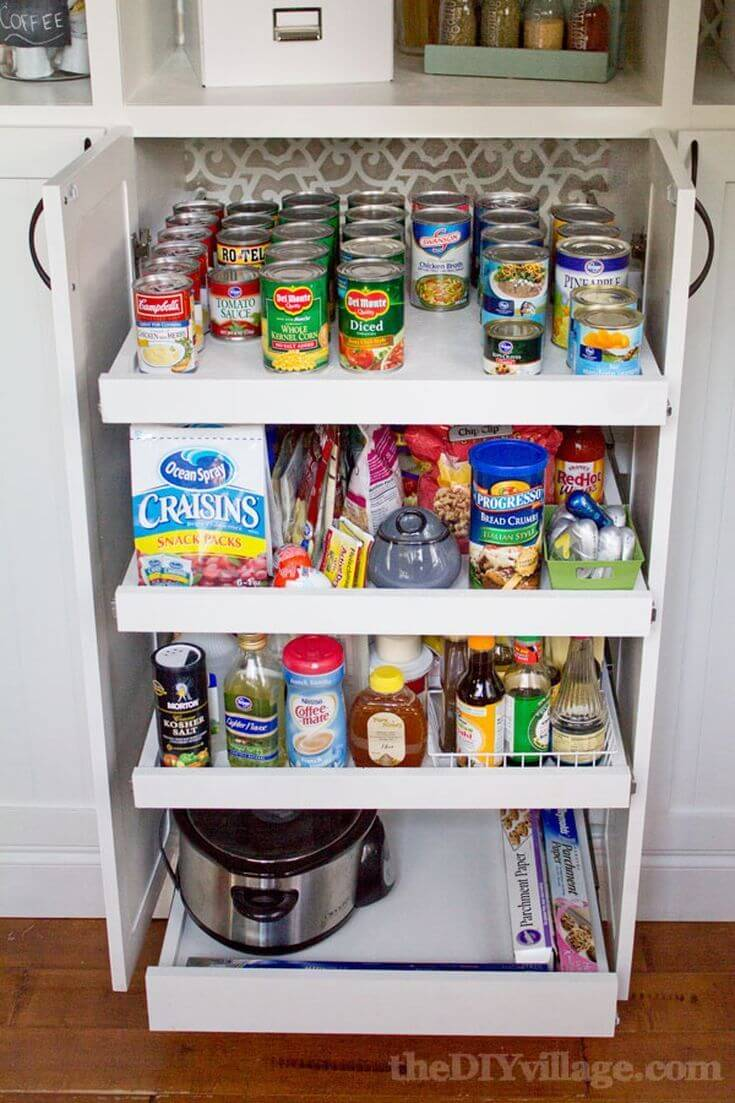 Slide-Out Shelves Under the Counter
